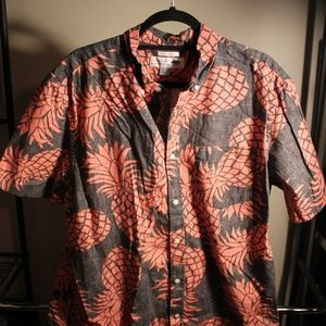 Men's Old Navy Print Short Sleeve Button Down
